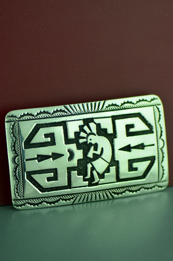 Navajo Sterling Silver Kokopelli Belt Buckle by the late Tommy Singer