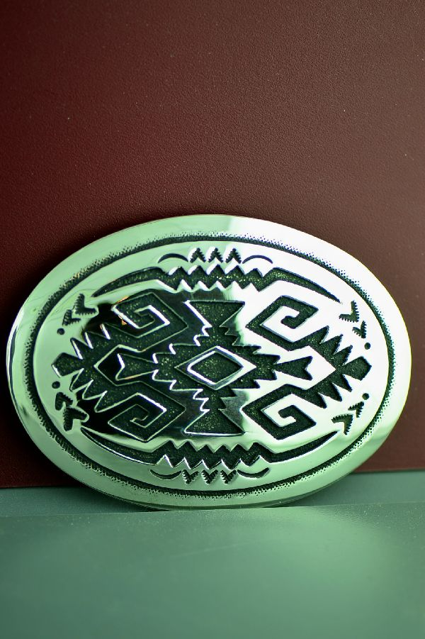 Rosita Singer Rug Design Belt Buckle