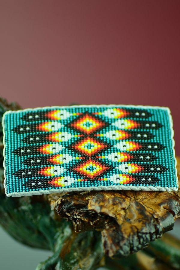 Daniel Yazzie Beaded Navajo Buckle