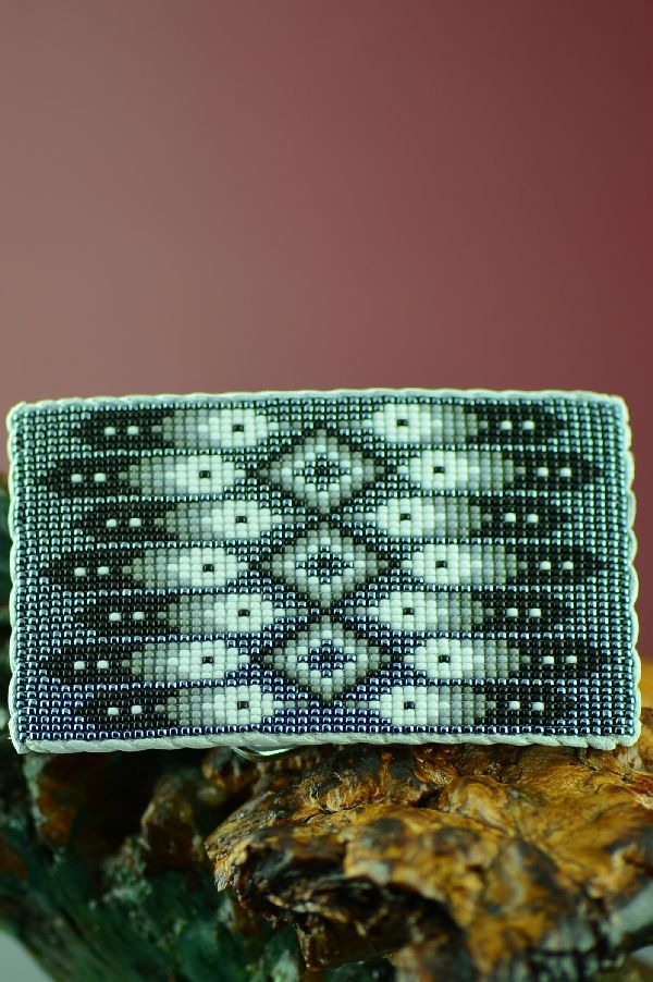 Daniel Yazzie Beaded Prayer Feather Belt Buckle