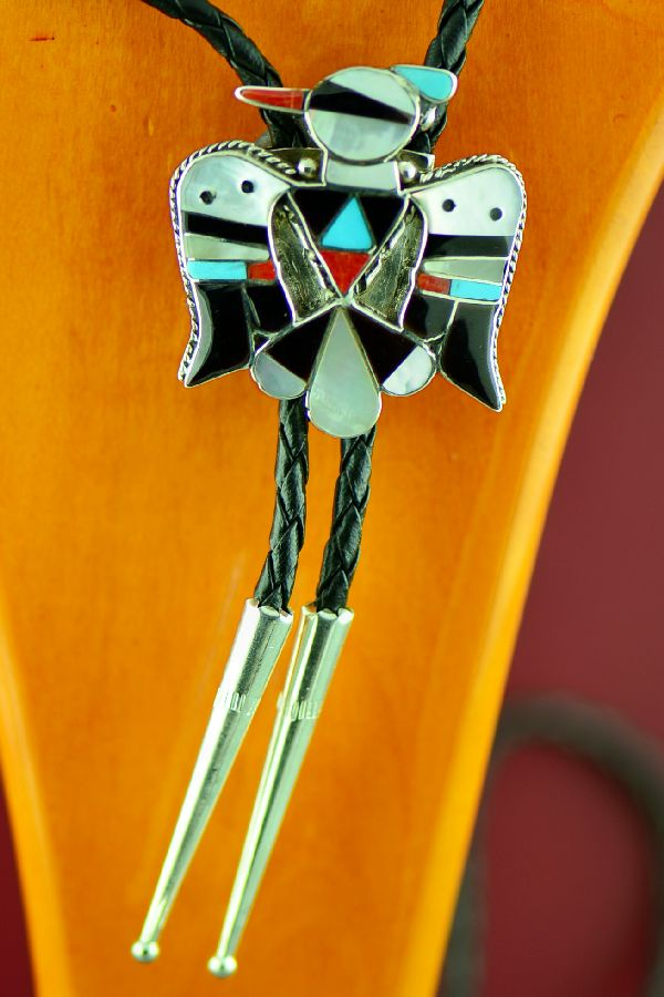 Thunderbird Bolo Tie by Bobby and Corrine Shack