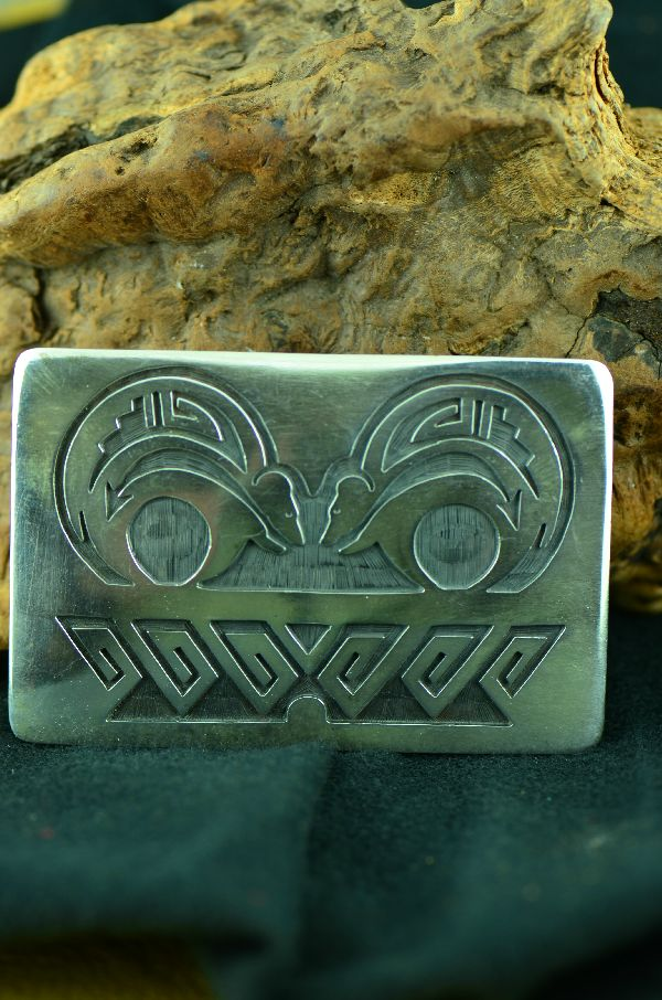 Hopi Sterling Silver Bear Buckle