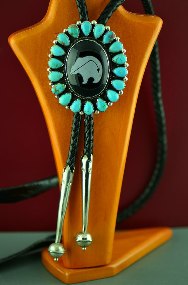 Will Denetdale Kingman Turquoise Bolo Tie