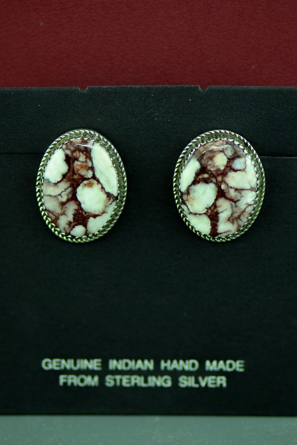 American Indian Wild Horse Magnesite Earrings