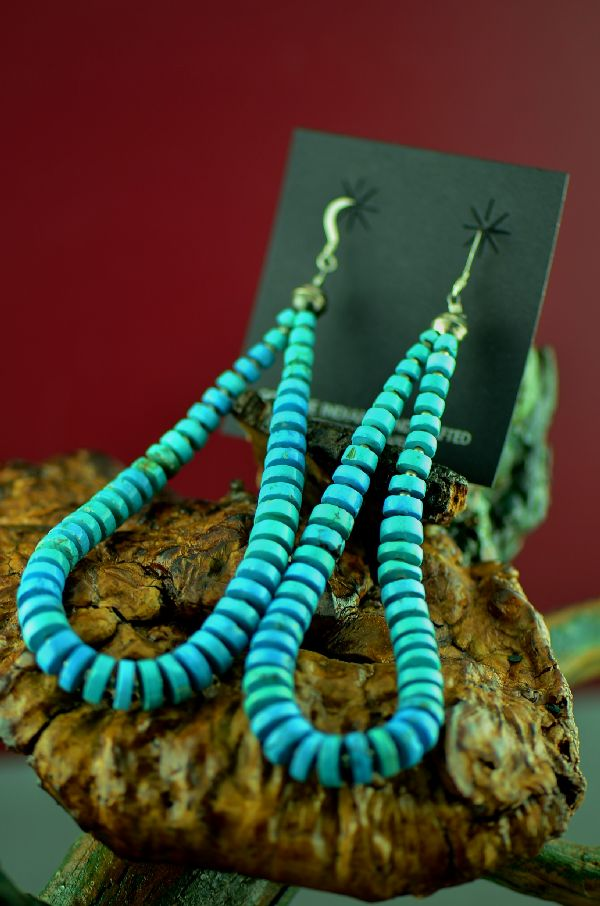 Authentic Kingman Turquoise Earrings