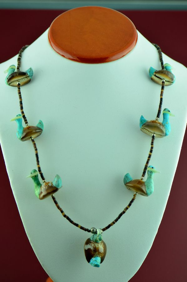 Navajo Duck Fetish Necklace