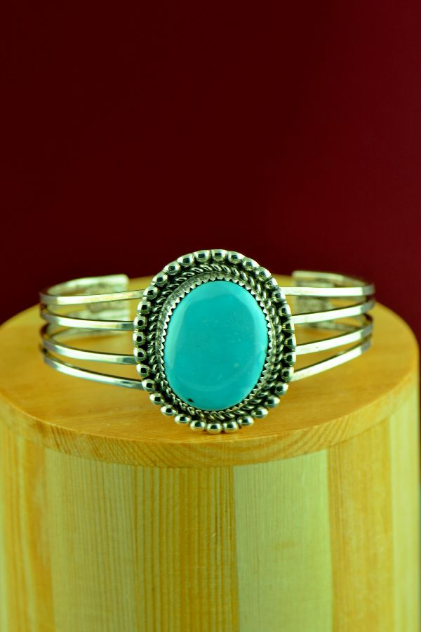 Morenci Turquoise Sterling Silver Bracelet