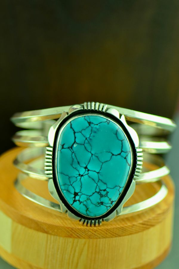 Will Denetdale China Mountain Turquoise Bracelet