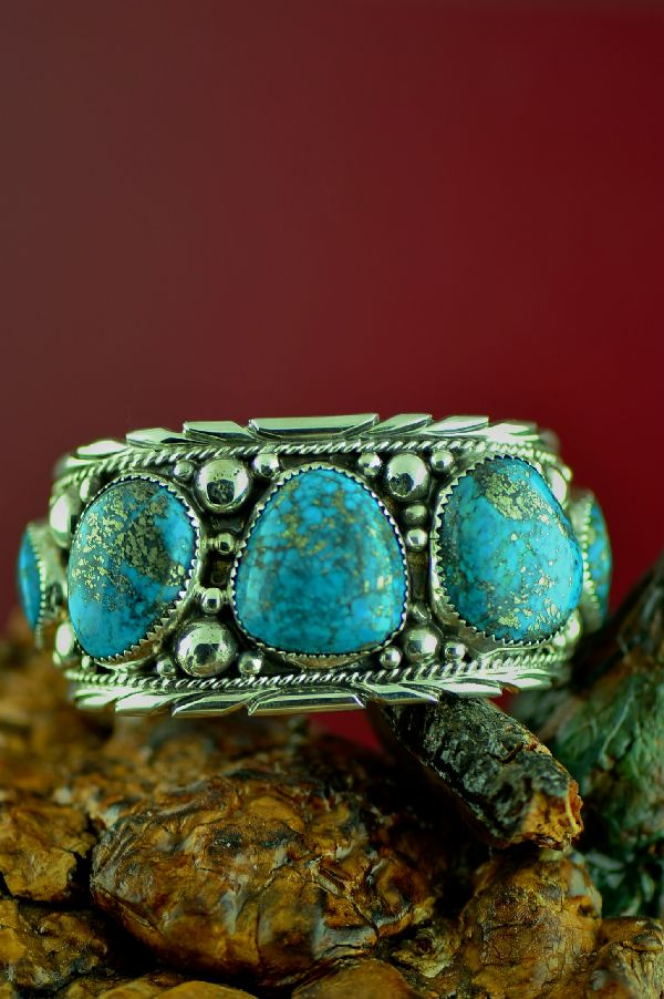 American Indian High Grade Morenci Turquoise Bracelet