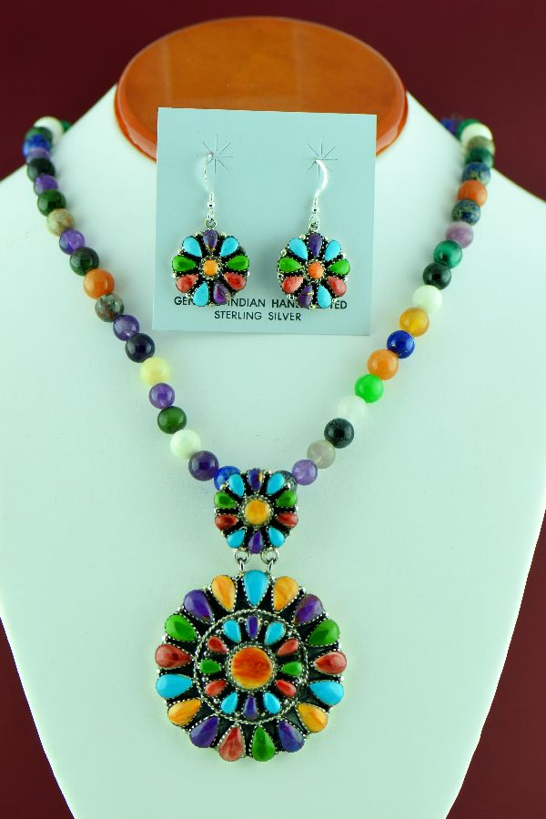 Navajo Cluster Necklace