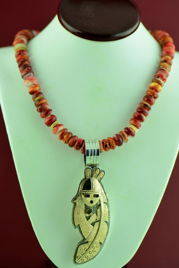 American Indian 14KT Gold Kachina Necklace