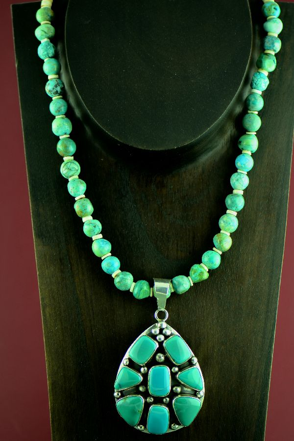 Barbara Johnson Navajo Royston Turquoise Necklace