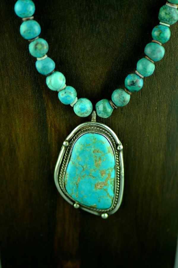 Dan Supata Royston Turquoise Pendant and Necklace