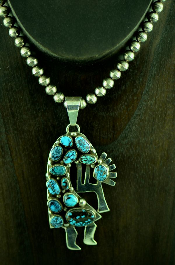Bea Tom Bisbee Turquoise Kokopellii Necklace