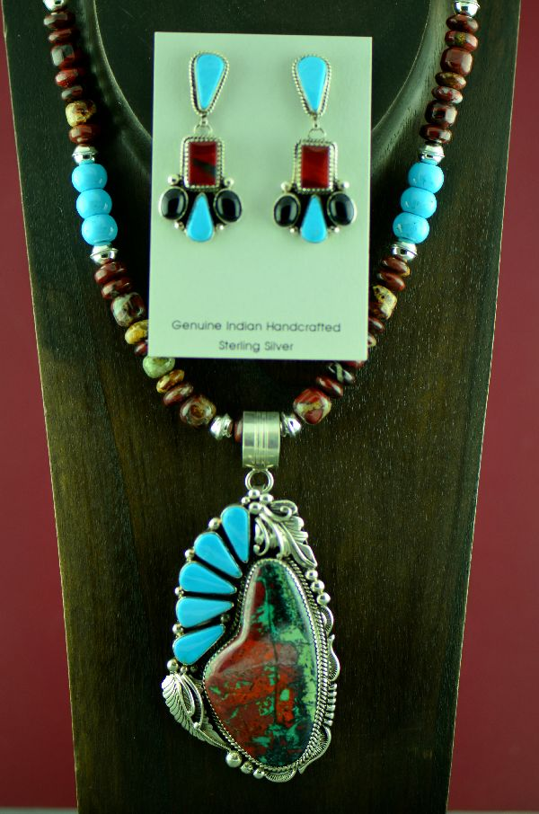Will Denetdale Sonoran Sunrise and Turquoise Pendant