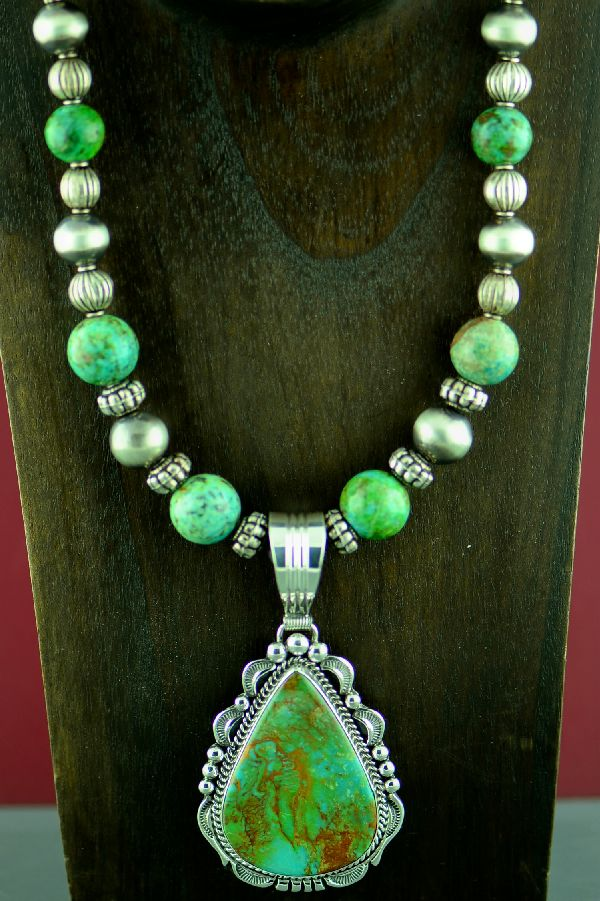 Royston Turquoise Necklace and Pendant