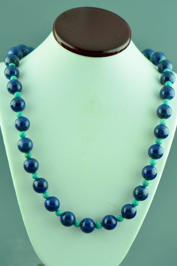 American Indian Lapis and Turquoise Necklace