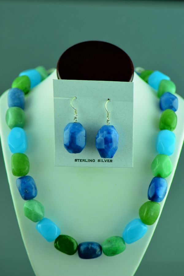Clara Whiterock Agate Necklace and Earrings