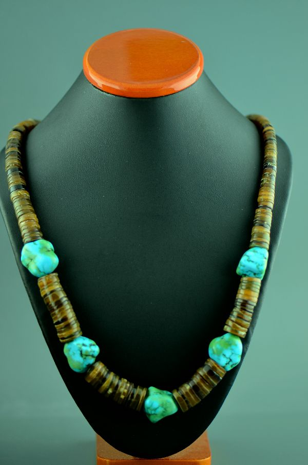 Clara Whiterock Kingman Turquoise Necklace