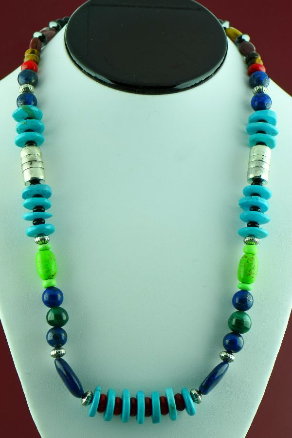 American Indian Multi Stone Necklaces