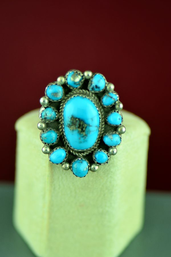 Twelve Stone Morenci Turquoise Ring