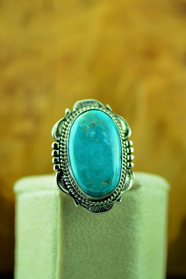Navajo Fox Turquoise Womens Ring