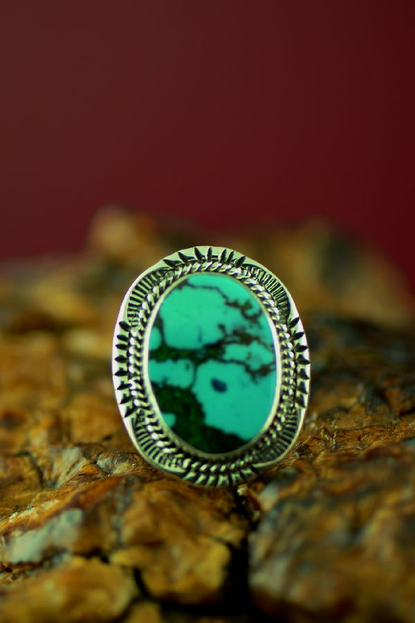 Authentic Native American Kingman Turquoise Ring