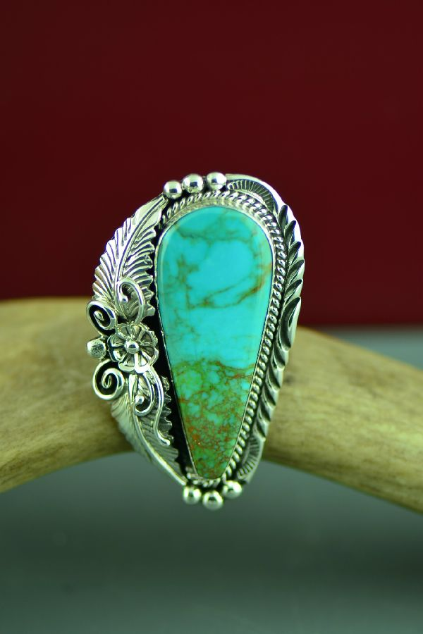 Ladies Native American Royston Turquoise Ring