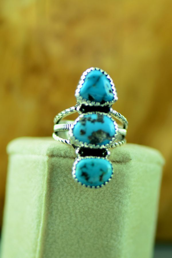 Morenci Turquoise Navajo Ladies Ring