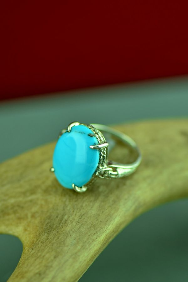 Cherokee Sleeping Beauty Turquoise Rings