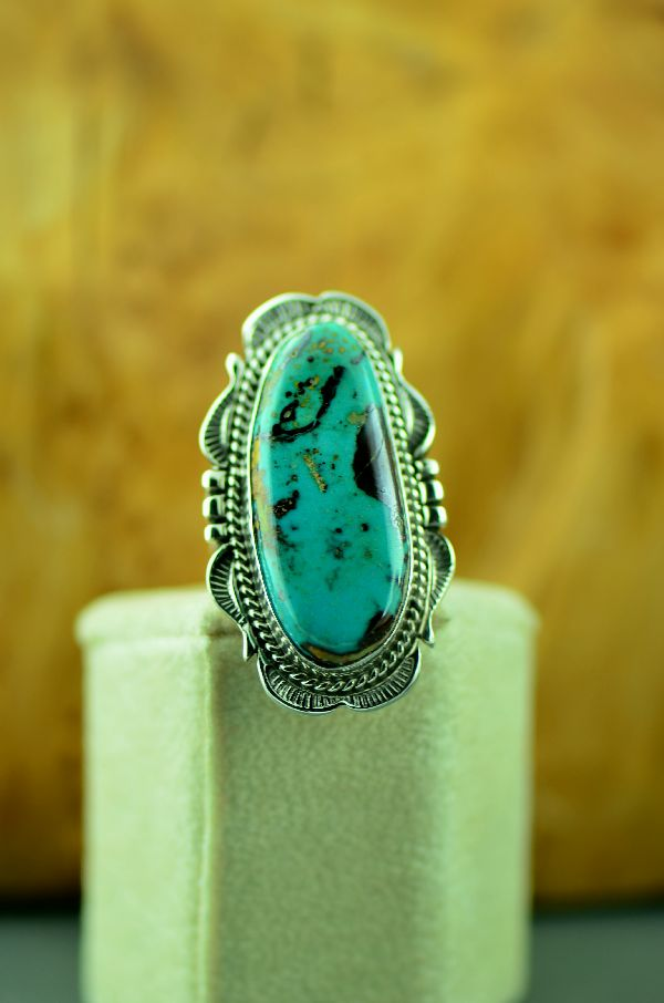 Will Denetdale Fox Turquoise Ring Ladies