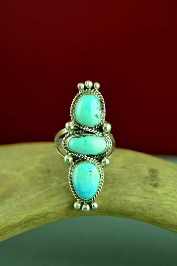 Will Denetdale Turquoise Ring Size 8