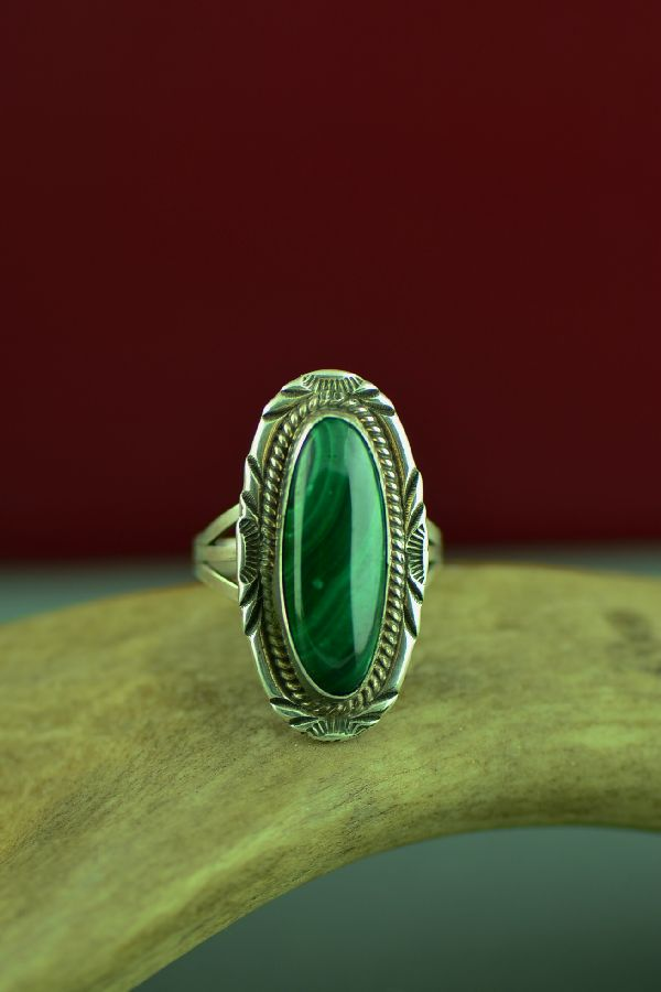 Malachite American Indian Rings