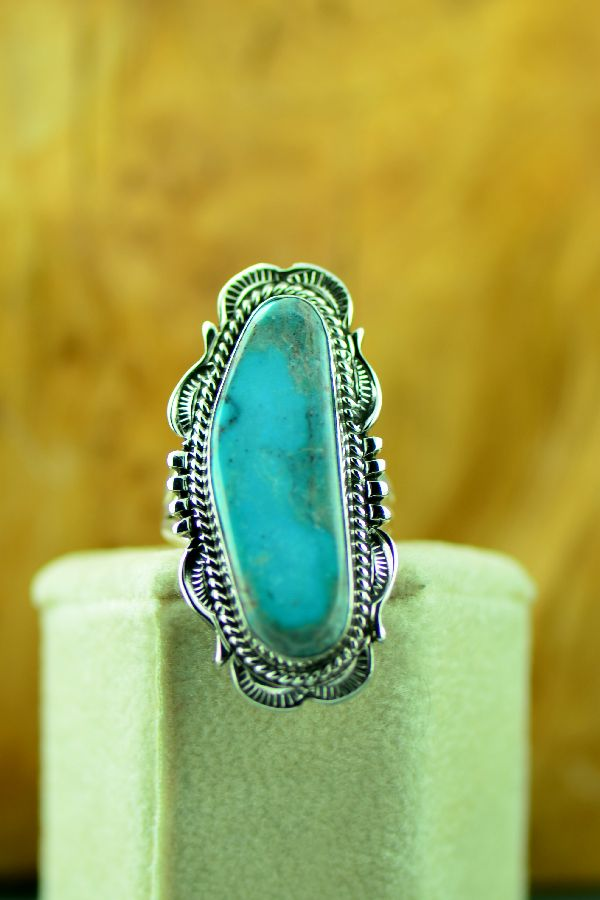 American Indian Fox Turquoise Ring