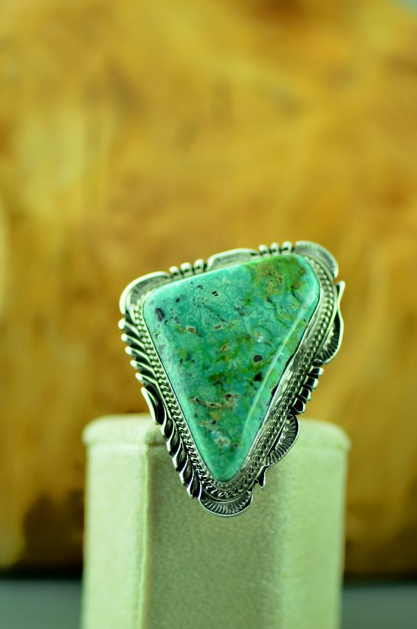 Exquisite Fox Turquoise Ring Navajo