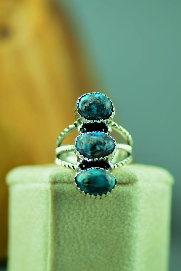 Will Denetdale Bisbee Turquoise Ring