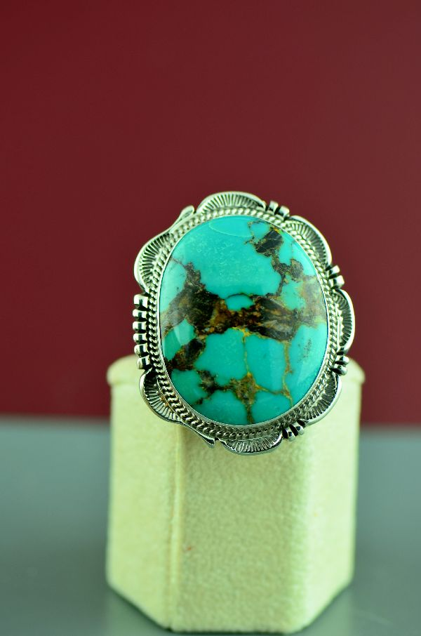 Native American Royston Turquoise Ring Size 7
