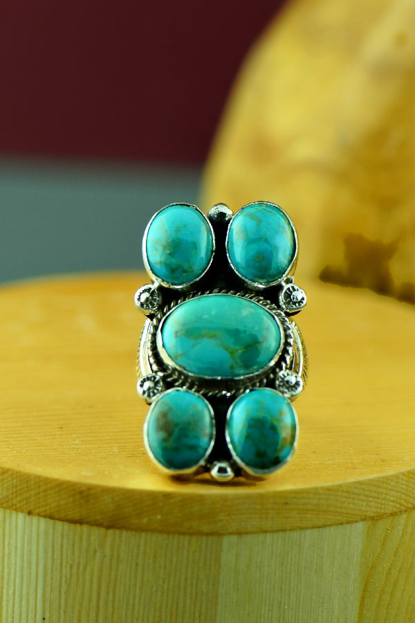 Kinmgan Turquoise Ladies Ring