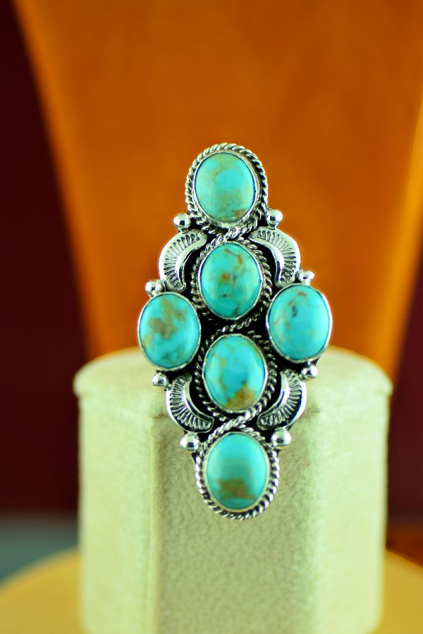 Will Denetdale Ladies Kingman Turquoise Ring