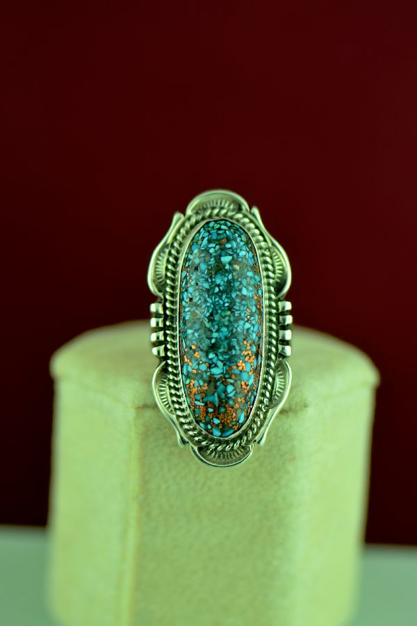 Navajo Copper Vein Kingman Turquoise Ring