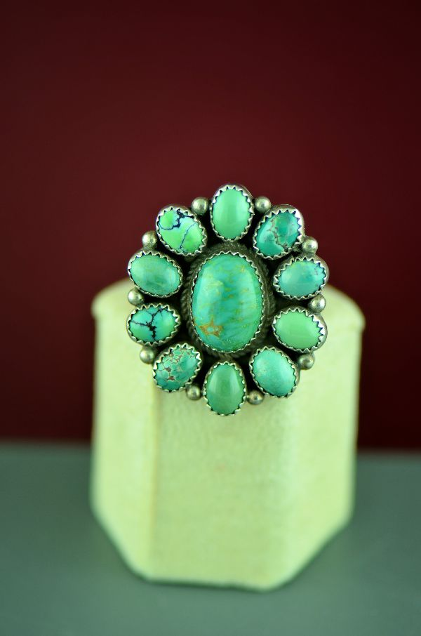 Fox Turquoise Cluster Ring