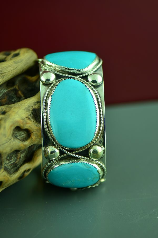 Large Sleeping Beauty Turquoise Bracelet