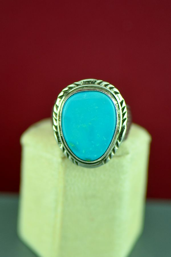 Will Denetdale Blue Gem Turquoise Ring