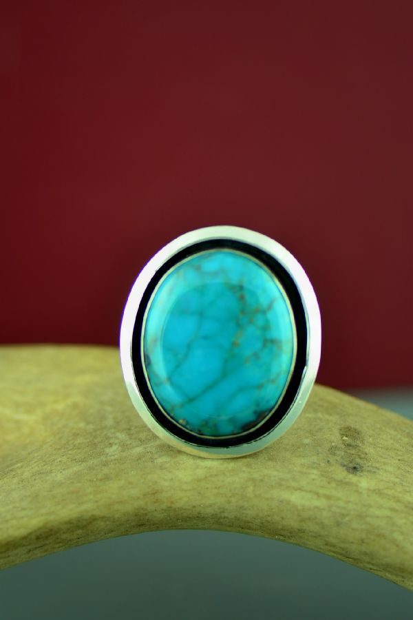 Will Denetdale Roystong Turquoise Ring Size 13