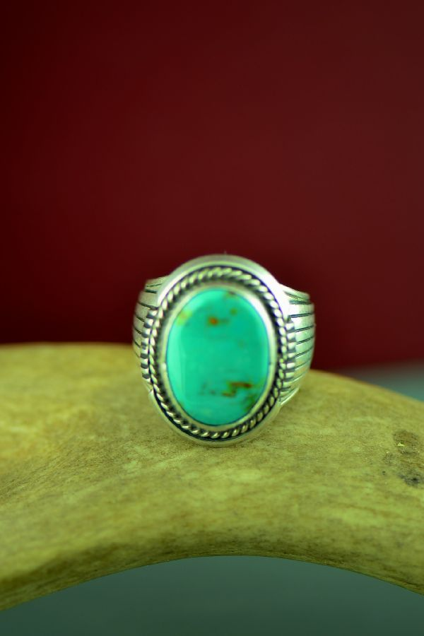 Will Denetdale Navajo Fox Turquoise Ring