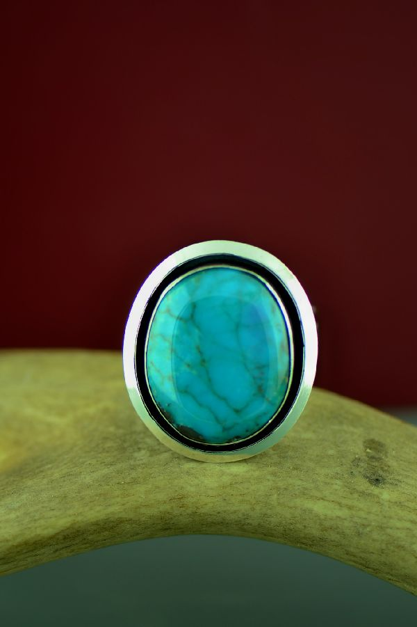 Native American Royston Turquoise Size 13 Ring