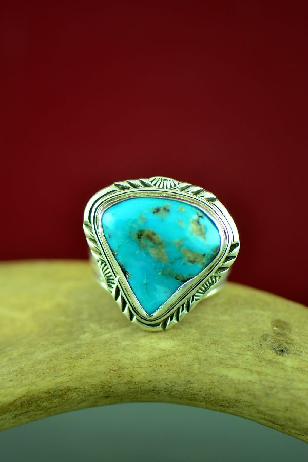 American Indian Blue Gem Turquoise Ring