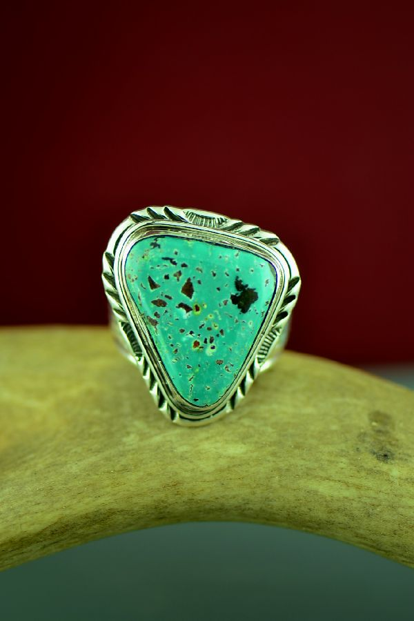 Authentic Native American Fox Turquoise Ring