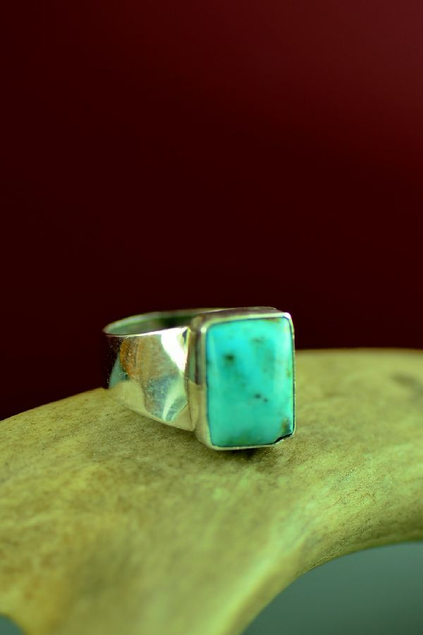 Authentic Navajo Kingman Turquoise Rings