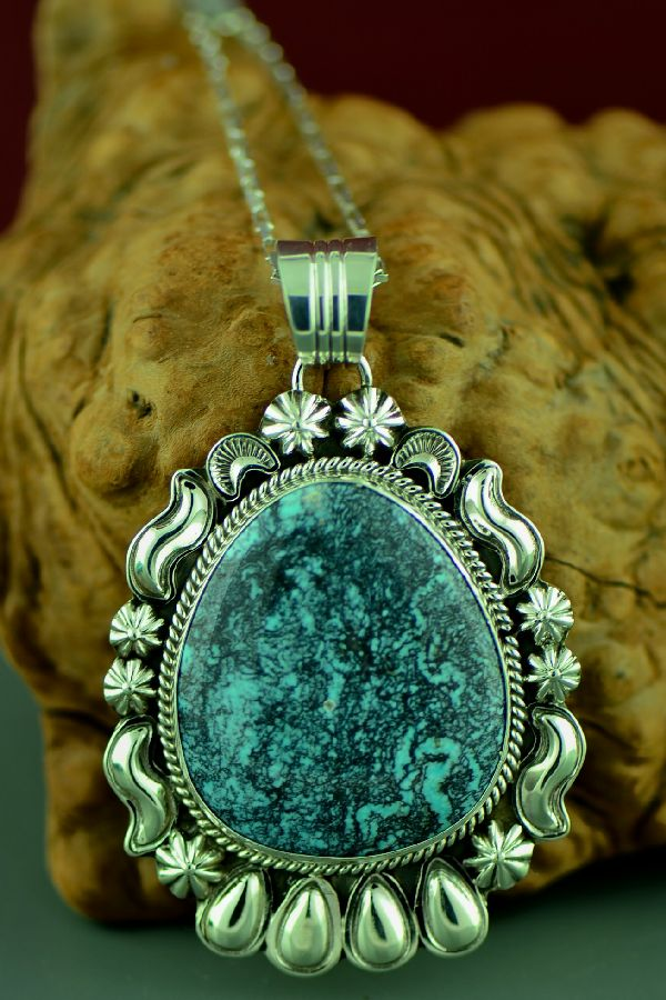 China Mountain Turquoise Native American Pendant